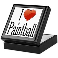 I Love Paintball Keepsake Box