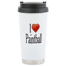 I Love Paintball Travel Coffee Mug