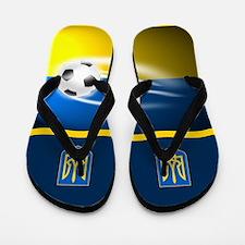 Ukraine Ukrainian Football Soccer Flip Flops