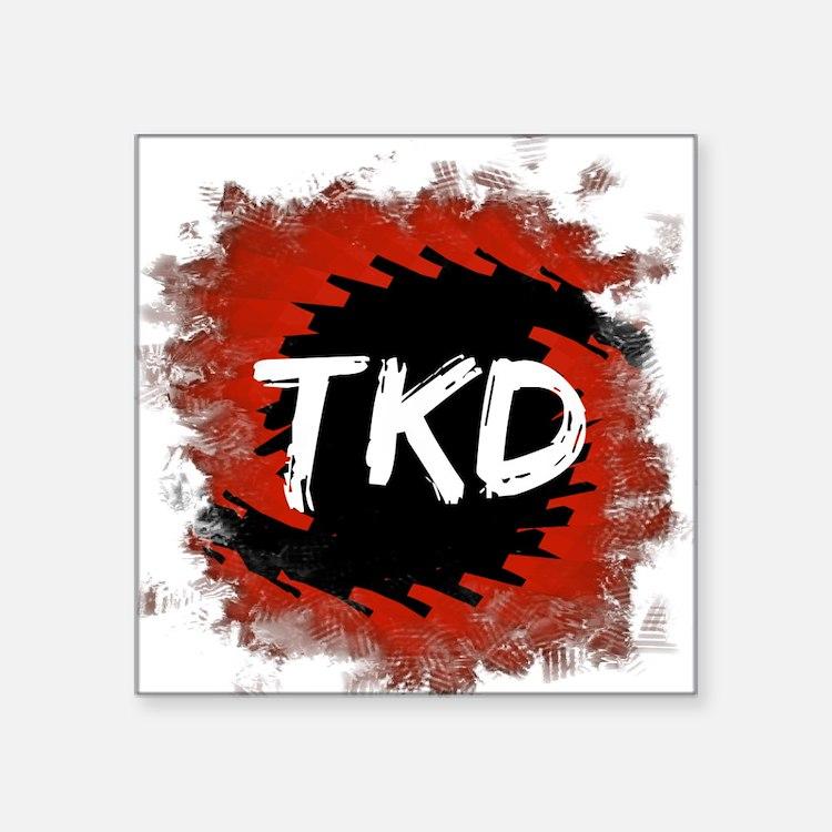 "TKD Hurricane Square Sticker 3"" x 3"""