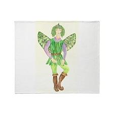 Rosemary Fairy Throw Blanket