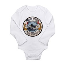 USS HOUSTON Long Sleeve Infant Bodysuit