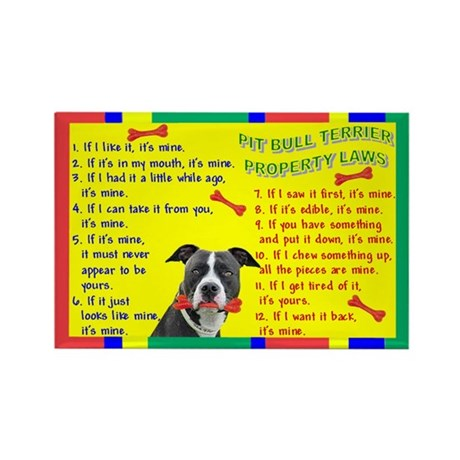 Pit Bull Property Laws Rectangle Magnet (10 pack)