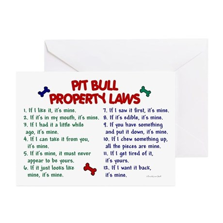 Pit Bull Property Laws Greeting Cards (Pk of 10)