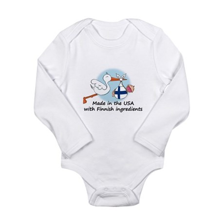 2-stork baby fin 2 Body Suit