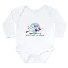 2-stork baby fin 2 Body Suit