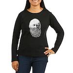 Charles Darwin Women's Long Sleeve Dark T-Shirt