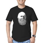 Charles Darwin Men's Fitted T-Shirt (dark)