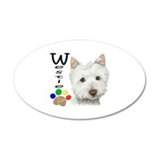 Westie Dog and Paw Print Design Wall Decal