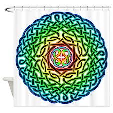 Rainbow Celtic Knot Shower Curtain