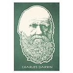 Charles Darwin Large Poster