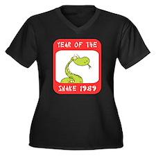 Year of The Snake 1989 Women's Plus Size V-Neck Da