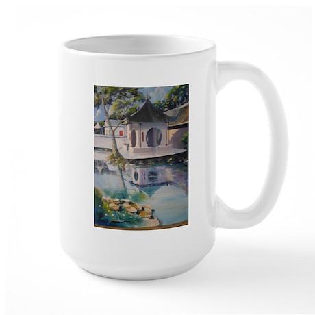 Tea house at Suzhou University Campus Large Mug