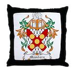 Manders Coat of Arms Throw Pillow