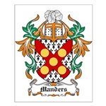 Manders Coat of Arms Small Poster