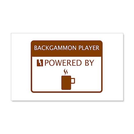 Backgammon Player Powered by Coffee 20x12 Wall Dec