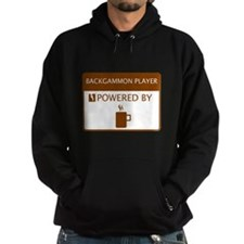 Backgammon Player Powered by Coffee Hoody