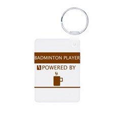 Badminton Player Powered by Coffee Keychains