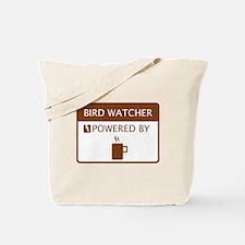 Bird Watcher Powered by Coffee Tote Bag