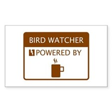 Bird Watcher Powered by Coffee Decal
