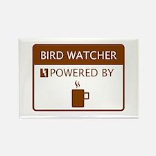 Bird Watcher Powered by Coffee Rectangle Magnet