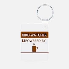 Bird Watcher Powered by Coffee Keychains