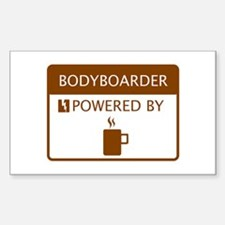 Bodyboarder Powered by Coffee Decal