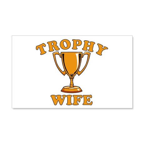 Trophy Wife Dark Shirts 20x12 Wall Decal