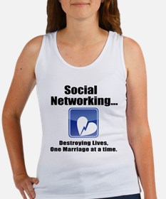 Social Networking Women's Tank Top