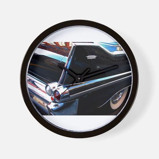 Classic Cars: 1950's Black Caddy Wall Clock