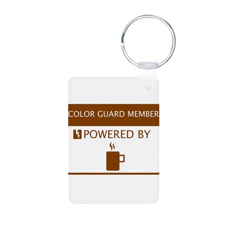 Color Guard Member Powered by Coffee Aluminum Phot