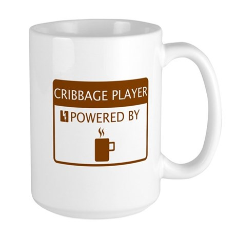 Cribbage Player Powered by Coffee Large Mug
