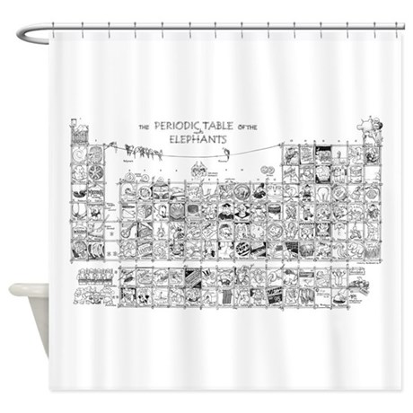 Periodic Table Shower Curtain by DSArtStore