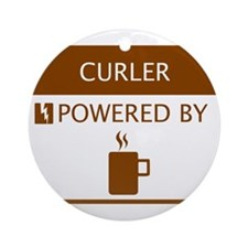 Curler Powered by Coffee Ornament (Round)