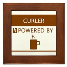 Curler Powered by Coffee Framed Tile