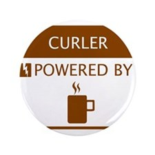 """Curler Powered by Coffee 3.5"""" Button"""