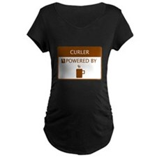 Curler Powered by Coffee T-Shirt