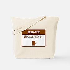 Debater Powered by Coffee Tote Bag