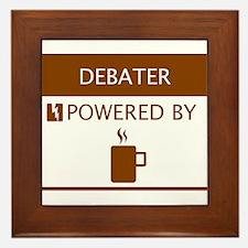 Debater Powered by Coffee Framed Tile