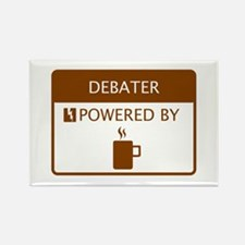 Debater Powered by Coffee Rectangle Magnet