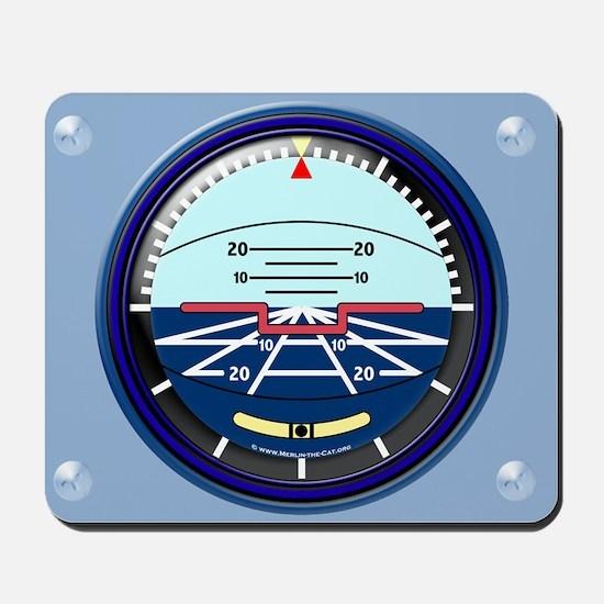 Artificial Horizon (blue) Mousepad