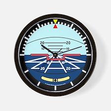 Artificial Horizon (blue) Wall Clock