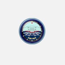 Artificial Horizon (blue) Mini Button