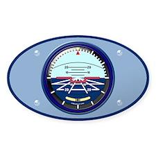 Art Horizon (blue) Oval Sticker w/Border