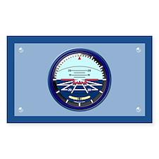 Art Horizon (blue) Rect Sticker w/Border
