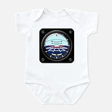 Artificial Horizon (blue) Infant Bodysuit