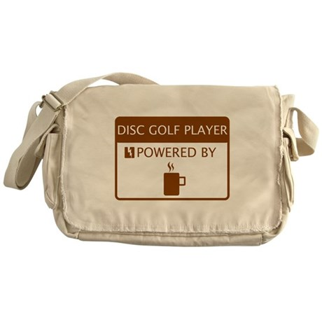 Disc Golf Player Powered by Coffee Messenger Bag