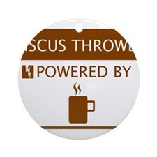 Discus Thrower Powered by Coffee Ornament (Round)