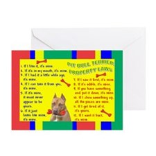 Cute Pit bull terrier items Greeting Cards (Pk of 10)