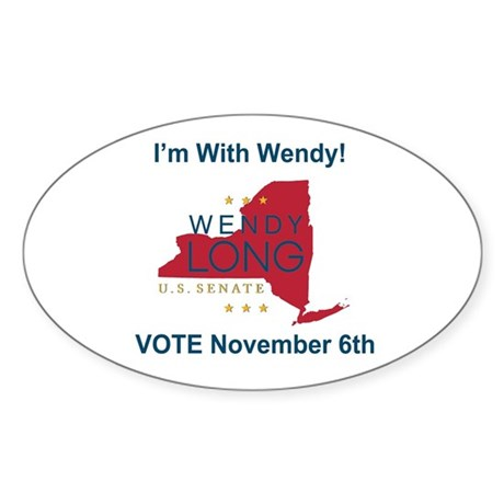 Wendy Long for New York Sticker (Oval)